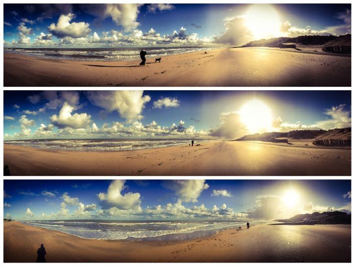 Utah Beach Triptych, Winters day